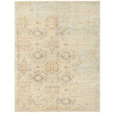 afghan hand knotted vegetable dye erased wool rug 5 x 6 7
