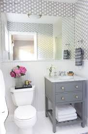 White bathroom tiles Black Grout Gray And White Bathroom The Spruce 15 Stunning Tile Ideas For Small Bathrooms