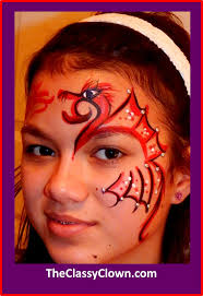 valentine s day love dragon face painting idea chicago face painter