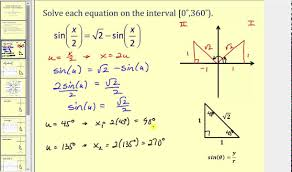 solving trigonometric equations using substitution for angles