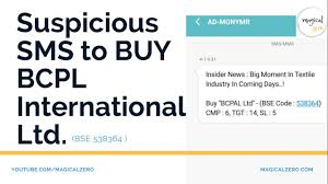 Suspicious Sms To Buy Bcpl International Ltd Bse 538364 Bcpal Share Analysis
