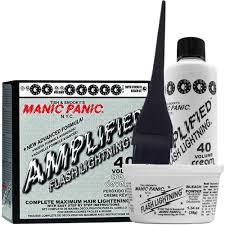 Hair Bleach Level Chart Manic Panic Flash Lightning Hair Bleach Kit 40 Volume