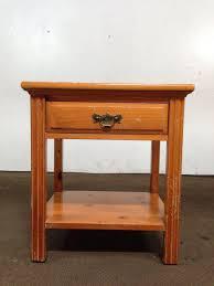 vintage henredon carved oak side table