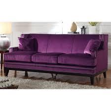 furniture purple sofa best mesmerizing design living room lovely modern soft velvet with nailhead trim details