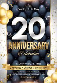 Anniversary Flyer Psd Template