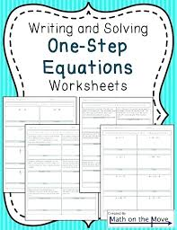one variable equation worksheets free expressions and equations linear in class 8 pdf