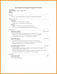 Programmer Resume Example Senior Analyst Programmer Oracle 11g