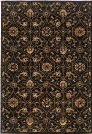 hudson black brown traditional rugs