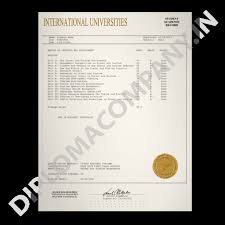 College International Diplomacompany Transcripts in Fake