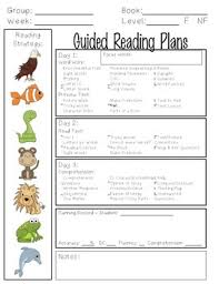 lesson plan template for kindergarten guided reading lesson plan template by kindergarten is grrreat