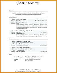 Resume Templates No Experience Interesting Resume Template With No Job Experience Mysticskingdom