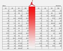 Jordan Retro Chart Grade School Shoes Size Chart Thelifeisdream