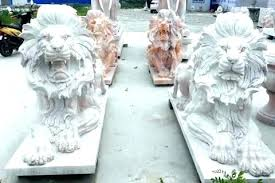 outdoor lion statues statue in sitting marble for garden pure white head large lion statues