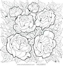 Outstanding Coloring Page Rose Rose Coloring Books Rose Garden