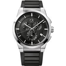 mens watch ck calvin klein dart chrono silicone blue black white mens watch ck calvin klein dart chrono silicone