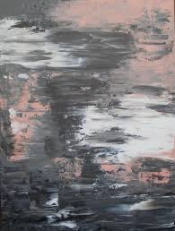pink and gray | Pink and Grey Abstract Painting 30x40 on by  JenniferFlanniganartLarge .