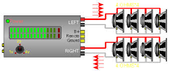 3 channel amp wiring diagram series parallel speaker impedance the image below shows the dvc speaker wired to both channels of
