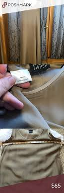 Eileen Fisher Size Chart Eileen Fisher L 100 Silk Trapeze Style Tank Dress Eileen