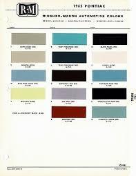 1965 Pontiac Color Chart 1973 Pontiac Bonneville Catalina Gto Grand Prix Firebird Fl