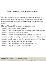 School Bus Aide Sample Resume
