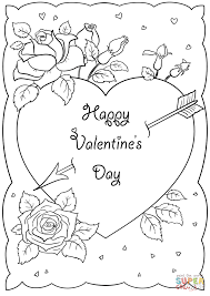 Small Picture Happy Valentines Day Card coloring page Free Printable Coloring
