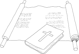 cpt4bibleandscroll coloring page bible and scroll on printable scroll