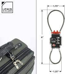 Buy Lewis N Clark Triple Security Lock: TSA Luggage Locks for Suitcases,  Carry On, Laptop Bag & More, Set Combination Lock to Create Secure Padlock  for Travel, Vacation, Business, or Backpacking Online