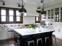 Image Cabinets Traditional White Kitchen With Subway Tile Walls Hgtvcom The History Of Subway Tile Our Favorite Ways To Use It Hgtvs