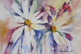 still life fl daisy daisies bouquet original watercolor painting oberst