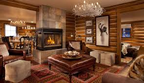 Modern Living Room With Brown Leather Sofa Furniture Amazing Rustic Living Room Furniture Cabin Living Room