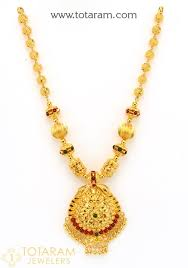 22k gold necklace with beads