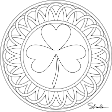 Small Picture Printable Shamrock Coloring Pages Coloring Home