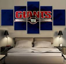 on ny giants canvas wall art with ny giants fans hq 5 piece art canvas print