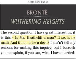 Wuthering Heights Quotes Gorgeous Heathcliff A Man Or A Devil Part II Of The Wuthering Heights Read
