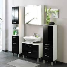 Badezimmer Komplettset Enilia In Schwarz 4 Teilig