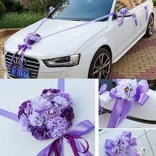 wedding car ribbon married car decorations bridal car decoration wedding car flowers set car decoration ideas artificial wedding flowers black