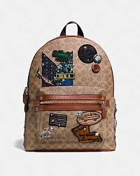 coach x keith haring academy backpack in.