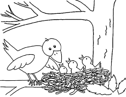Small Picture Mother Bird Put Her Babies in Bird Nest Coloring Pages Mother