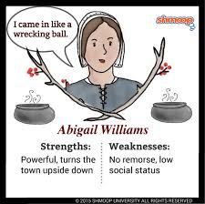 abigail williams in the crucible chart abigail williams