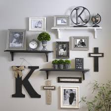 Decorative wall shelving Storage Adding Shelves To The Mix When Creating Gallery Walls Creates More Exciting And Diversified Look Pinterest Adding Shelves To The Mix When Creating Gallery Walls Creates More