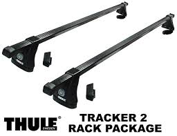 thule tracker ii roof rack package tracker foot pack load bars and fit kit view larger image