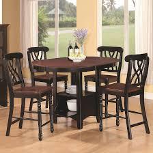 Black Round Kitchen Tables Tall Round Kitchen Tables Robbiesherre