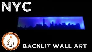 new york city skyline backlit led wall art scroll saw project you