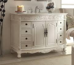 48 inch white bathroom vanity. Adelina 48 Inch Antique White Bathroom Vanity T