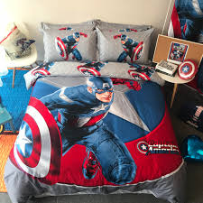 2019 new 100 cotton captain america comforter cover princess gaptain america bedding set duvet cover bed queen pillowcase sets from murotovo