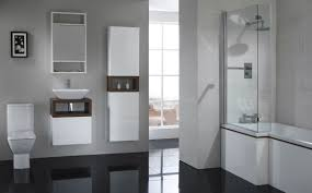 Amazing Design Bathroom Inspirations Display Great Gray Wall Color Painted  And Glossy Black Tile Floor Also The Latest High Q