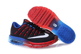 blue and red nike slip on sneakers