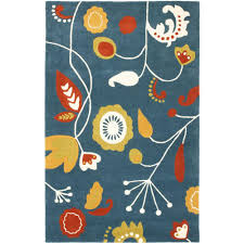 safavieh soho dark blue multi 4 ft x 6 ft area rug