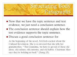 writing the red scarf girl essay ppt video online  6 structuring body paragraphs
