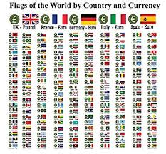 Maxi Size Chart Flags Of The World With Country Names And